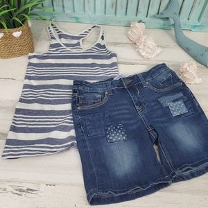 Girls Shorts and Tank Top Set Size 10